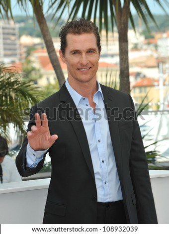 """Matthew McConaughey at the photocall for his new movie """"The Paperboy"""" in competition at the 65th Festival de Cannes. May 24, 2012  Cannes, France Picture: Paul Smith / Featureflash - stock photo"""