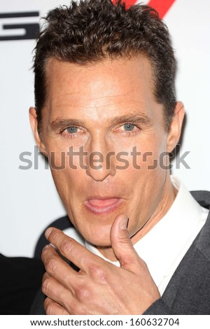 Matthew McConaughey at the 17th Annual Hollywood Film Awards Arrivals, Beverly Hilton Hotel, Beverly Hills, CA 10-21-13