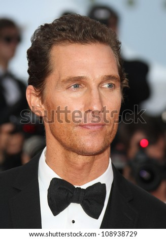 Matthew McConaughey attending 'Mud' premiere during the 65th annual Cannes Film Festival, Cannes, France. 26/05/2012 Picture by: Henry Harris / Featureflash