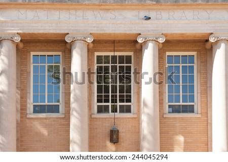 Matthews library building in Arizona State University