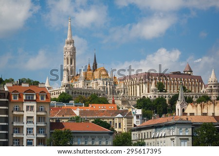Matthias church in Budapest at summer time #295617395