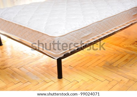mattress in the room