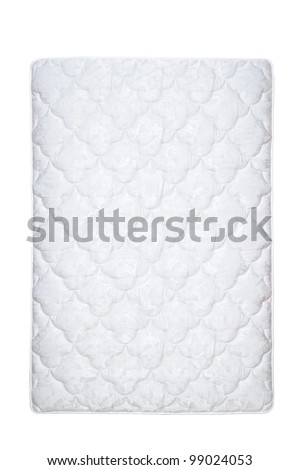 mattress isolated on the white - stock photo