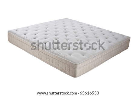 Mattress isolated on white background.
