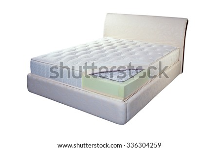 Mattress made of pocket springs and foam