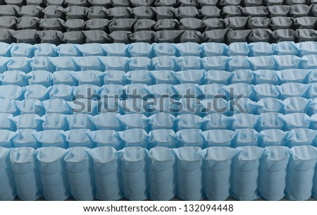 Mattress spring seal with blue fabric before assemble inside the mattress the image isolated
