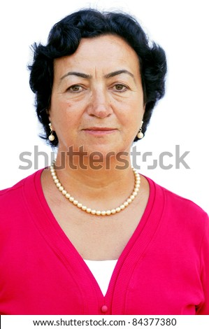 stock photo : Mature adult female looking at viewer. Save to a lightbox ▼
