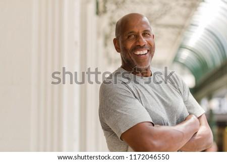 Mature African American man smiling. #1172046550