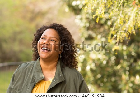 Mature African American woman smiling. #1445191934