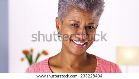 Mature black woman laughing #233228404