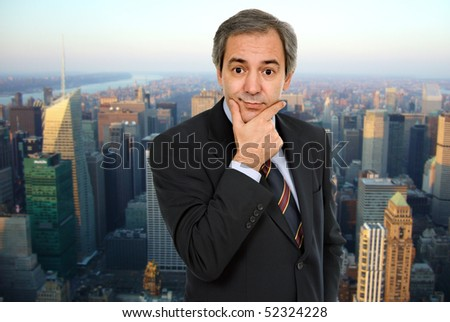 stock photo mature business man thinking with his hand on the face 52324228 amateur home made housewife porn. Warning: include() [function.include]: URL ...