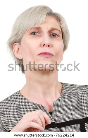 stock photo : Mature business woman with glasses