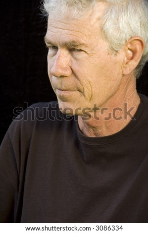 stock photo mature caucasian man with gray hair steady gaze pensive expression dark background 3086334 Daisy Duke Tumblr | E HotSex.
