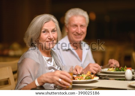 Eating out mature
