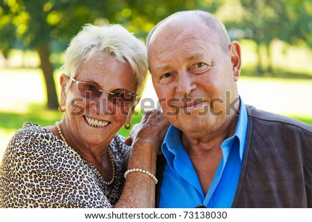 Mature couple in love senior citizens. Portraits of a married couple.