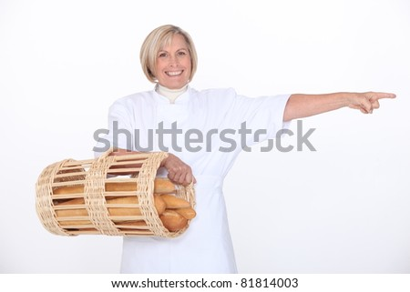 Mature female baker