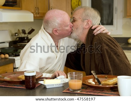 stock photo mature gay couple kissing at breakfast 47558197 GAY HARDCORE Movies From Gay Porn | Free Gay Porn Movies |Gay Sex Videos   ...