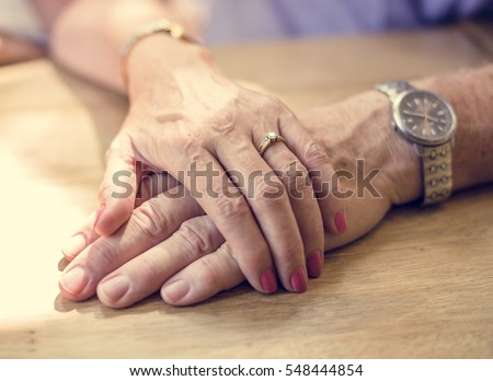 Mature People Romantic Holding Hands