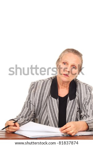 Mature woman at a desk