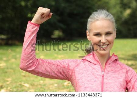 Mature woman outside