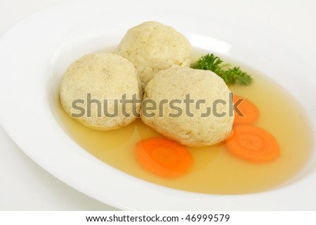 Matzo ball soup for Passover