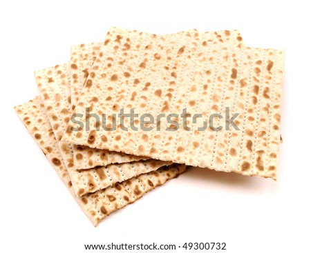 Matzo, isolated on white