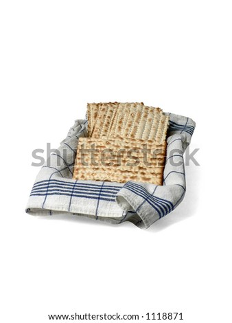 Matzoh in basket