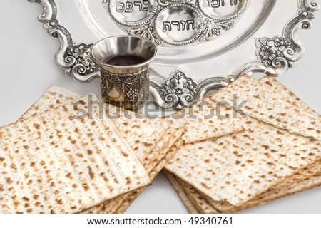 Matzos - jewish passover bread - stock photo
