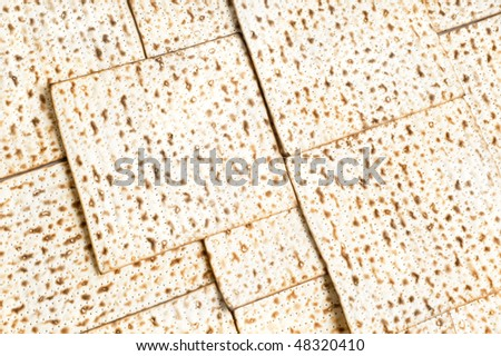 Matzos - jewish passover bread isolated over white  background
