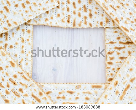 Matzot for passover celebration with copy space