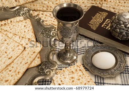 matzot,torah and red wine