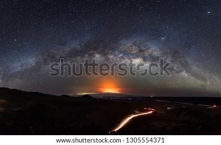 Mauna Kea Milky Way and Volcano Glow #1305554371
