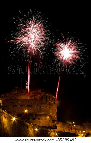Mausoleum of Hadrian, usually known as the Castel Sant'Angelo during fireworks