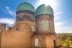 Mausoleum of Kazy-zade Rumi. The ensemble of the mausoleums of the Karakhanid and Timurid nobility Shakhi-Zinda. Samarkand, Uzbekistan