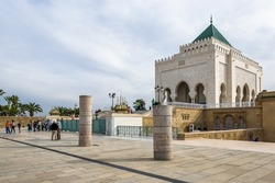 Mausoleum of Mohammed V complex, final resting place of three significant members of the Moroccan royal family and a UNESCO World Heritage site