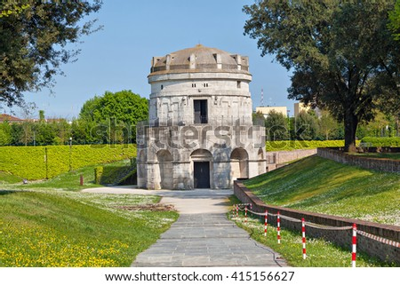 Shutterstock Mausoleum of Theoderic -  an ancient monument  built in 520 AD by Theoderic the Great as his future tomb. Ravenna, Emilia-Romagna, Italy