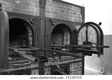 Mauthausen, death camp, detail from cremathorium