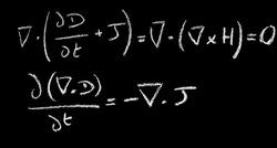 Maxwell Equations on black board