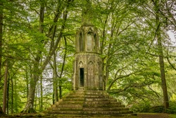 Maxwell's temple in a forest near Kenmore, near the river Tay.
