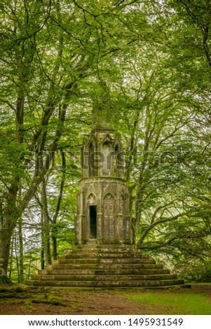 Maxwell's temple in a forest near Kenmore, near the river Tay.   #1495931549