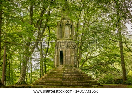 Maxwell's temple in a forest near Kenmore, near the river Tay.   #1495931558