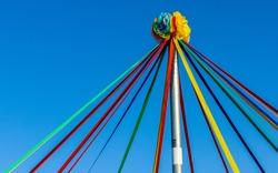 May Day Pole Celebration Up Close