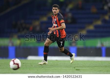 MAY 11, 2019 - KHARKIV, UKRAINE: Captain Taison Barcellos Freda passes the ball. Ukrainian Premier League. Shakhtar Donetsk - FC Oleksandriya