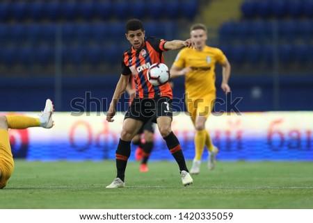 MAY 11, 2019 - KHARKIV, UKRAINE: Captain Taison Barcellos Freda runs and dribbles with the ball. Ukrainian Premier League. Shakhtar Donetsk - FC Oleksandriya