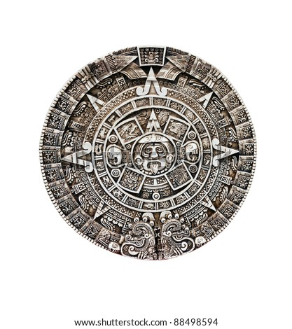 Maya calendar isolated - over white