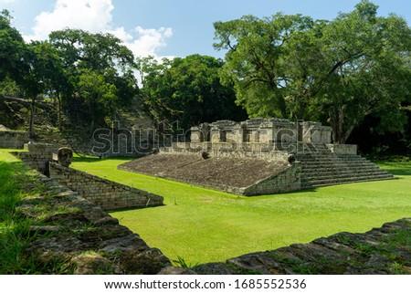 Maya Ruins Copan Honduras Central America Foto stock ©