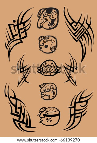 stock photo maya symbol letter tattoo