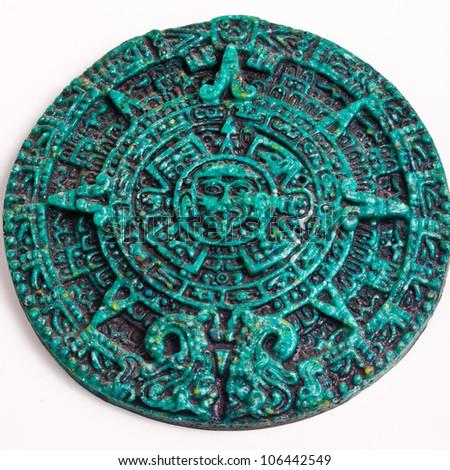 Mayan Calendar Green Stone