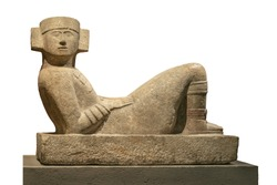 Mayan deity called Chacmool, high-resolution image Great statue found in several ancient cultures in Mexico