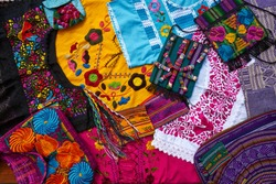 Mayan mexican handcrafts embroidery souvenirs mix